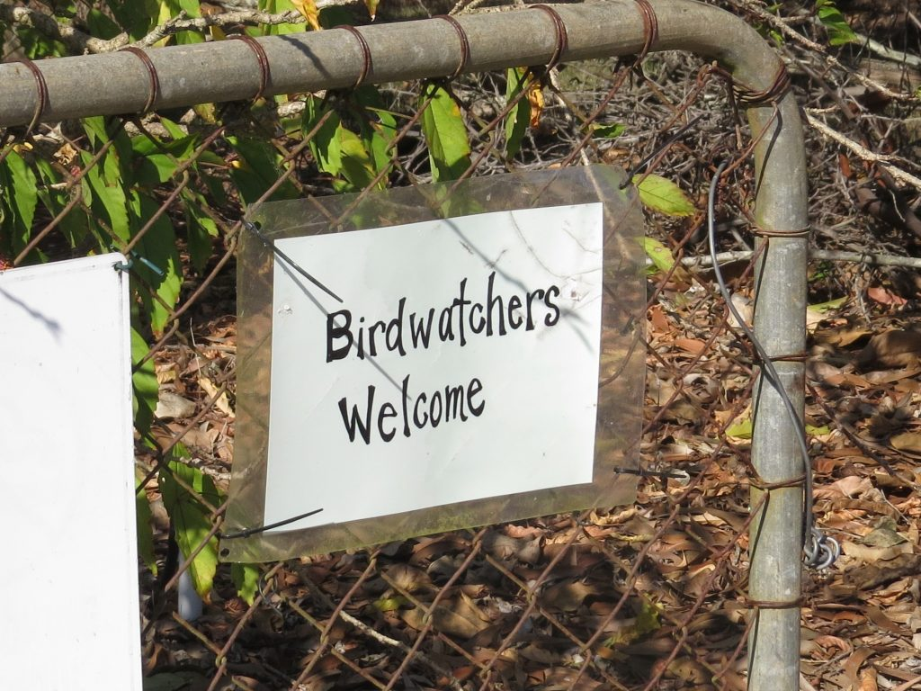 birdwatchers welcome