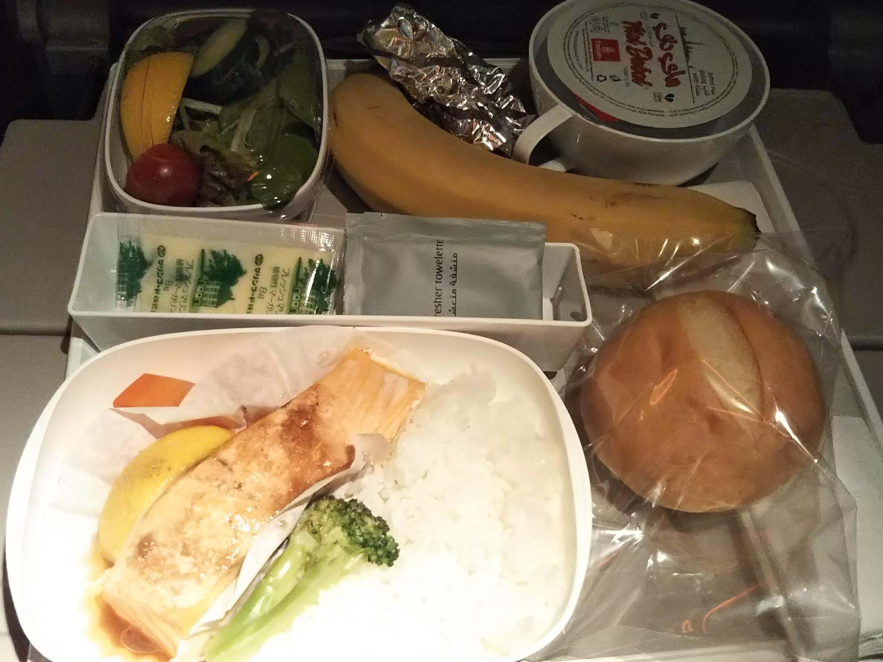 エミレーツ航空糖尿病ミール 夕食