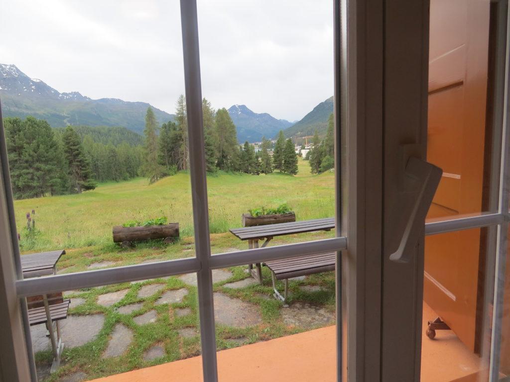 ホテルシェサスプオンダスの部屋の窓からの景色
