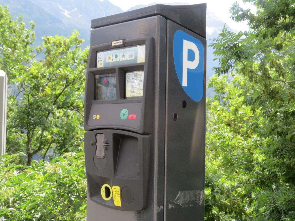 ソーリオの駐車場パーキングメーター